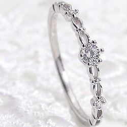 ダイヤモドリング プラチナ 指輪 レディース Pt900 ピンキーリング 1号〜 婚約指輪 結婚 記念日 クリスマス プレゼント xmas