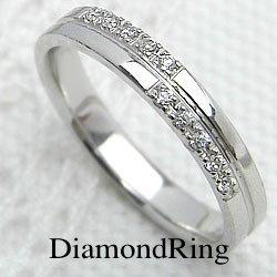 ダイヤモンドリング クロス ホワイトゴールドK10 十字架 レディースリング K10 指輪 ジュエリーアイ ギフト