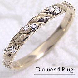 イエローゴールドK18 ダイヤモンドリング K18YG 誕生日プレゼント 贈り物 アクセサリー 指輪 ジュエリ-ショップ ギフト