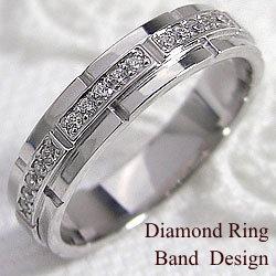 ベルトデザインダイヤモンドリング ホワイトゴールドK10 ファッションリング K10WG ピンキーリング 指輪 アクセサリーショップ ジュエリーアイ ギフト