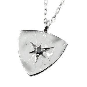 メンズネックレス 18金 K18 ゴールド 1石 ブラックダイヤモンド ピック形 三角形 モチーフ シンプル チェーン ペンダント アズキチェーン 50cm 1mm幅 男性用おすすめ プレゼント