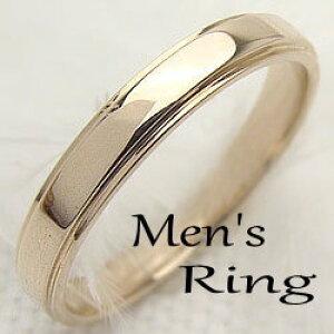 メンズリング K18YG men'sアクセサリー 誕生日プレゼント オシャレ指輪 ピンキーリング イエローゴールドK18 ギフト 新生活 在宅 ファッション