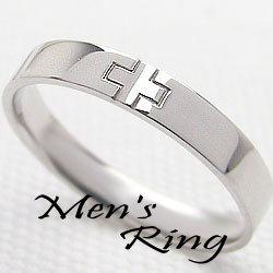 プラチナメンズクロスリング Pt900 十字架指輪 ギフト