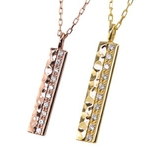 ペアネックレス シンプル ゴールド 10金 天然 ダイヤモンド 10石 ペンダント 2本セット ネックレス ゴールド K10 チェーン ペア 文字入れ 刻印 可能 カップル ペアルック おすすめ プレゼント