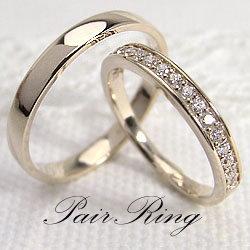 マリッジリング ハーフエタニティ ダイヤモンド 結婚指輪 イエローゴールドK18 記念日 ペアリング K18YG pairring ギフト