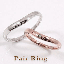マリッジリング ペアリング ピンクゴールドK10 ホワイトゴールドK10 結婚指輪 婚約 記念日 ダイヤモンド 刻印 文字入れ 可能 2本セット ブライダル ギフト