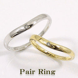 ダイヤモンドマリッジリング 結婚指輪 ペアリング イエローゴールドK10 ホワイトゴールドK10 婚約 結婚式 K10YG K10WG pairring ギフト