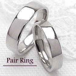 結婚指輪 平打ち 幅広 ホワイトゴールドK10 シンプルペアリング マリッジリング 10金 2本セット 文字入れ 刻印 可能 婚約 結婚式 ブライダル ウエディング ギフト