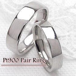 結婚指輪 プラチナ 幅広 平打ち シンプル ペアリング マリッジリング Pt900 2本セット 文字入れ 刻印 可能 婚約 結婚式 ブライダル ウエディング ギフト