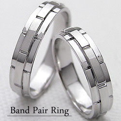 結婚指輪 ゴールド バンドデザイン ペアリング マリッジリング ホワイトゴールドK10 ベルト 10金 2本セット ペア 文字入れ 刻印 可能 婚約 結婚式 ブライダル ウエディング ギフト