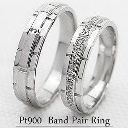 結婚指輪 プラチナ オリジナル バンドデザイン マリッジリング ダイヤモンド Pt900 結婚式 結婚指輪 ペアリング 2本セット 文字入れ 刻印 可能 婚約 結婚式 ブライダル ウエディング ギフト