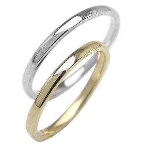 結婚指輪 結婚指輪 ゴールド ペアリング シンプル ストレートリング イエローゴールドK18 ホワイトゴールドK18 マリッジリング 18金 2本セット ペア 文字入れ 刻印 可能 婚約 結婚式 ブライダ