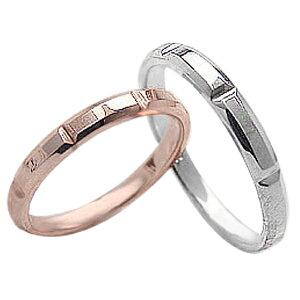 結婚指輪 ゴールド ペアリング オリジナルデザイン ピンクゴールドK18 ホワイトゴールド18 マリッジリング 18金 2本セット ペア 文字入れ 刻印 可能 婚約 結婚式 ブライダル ウエディング ギフ