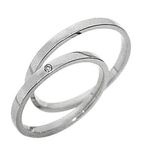 結婚指輪 一粒ダイヤ ペアリング ホワイトゴールドK10 マリッジリング ダイヤモンド 10金 ストレート 2本セット 文字入れ 刻印 可能 婚約 結婚式 ブライダル ウエディング ギフト 新生活 在宅