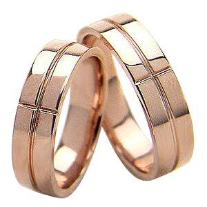 結婚指輪 ゴールド クロス 幅広 ペアリング シンプル ピンクゴールドK18 マリッジリング 18金 2本セット ペア 文字入れ 刻印 可能 婚約 結婚式 ブライダル ウエディング ギフト 新生活 在宅 フ