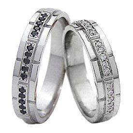 結婚指輪 プラチナ ダイヤモンド ブラックダイヤモンド マリッジリング Pt900 2本セット ペア 文字入れ 刻印 可能 婚約 結婚式 ブライダル ウエディング クリスマス プレゼント ギフト