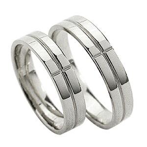 結婚指輪 プラチナ クロス ペアリング シンプル Pt900 マリッジリング 2本セット ペア 文字入れ 刻印 可能 婚約 結婚式 ブライダル ウエディング バレンタインデー プレゼント
