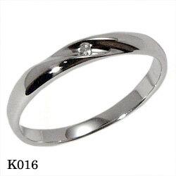 【割引クーポンが使える】 結婚指輪 プラチナ900 ダイヤモンド マリッジリング エトワ K016 【ポイント2倍 刻印無料 送料無料】