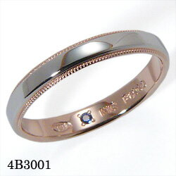 【割引クーポンが使える】 結婚指輪 プラチナ900 K18ピンクゴールド サファイア マリッジリング 4B3001 ロマンティックブルー 【ポイント2倍】 プラチナ結婚指輪 ピンクゴールド結婚指輪 ペア結婚指輪 刻印無料結婚指輪 送料無料結婚指輪 シンプル結婚指輪