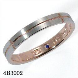 【割引クーポンが使える】 結婚指輪 プラチナ900 K18ピンクゴールド サファイア マリッジリング 4B3002 ロマンティックブルー 【ポイント2倍】 プラチナ結婚指輪 ピンクゴールド結婚指輪 ペア結婚指輪 刻印無料結婚指輪 送料無料結婚指輪 シンプル結婚指輪