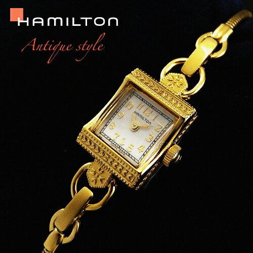 ハミルトンは安心の正規販売店で HAMILTON レディ ハミルトン ヴィンテージ 【正規輸入品】 ゴールド