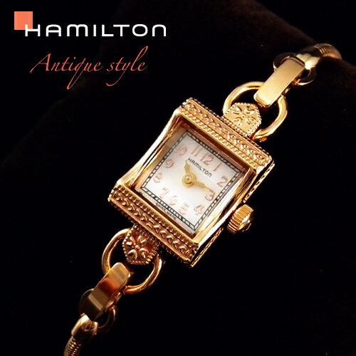 ハミルトンは安心の正規販売店で HAMILTON レディ ハミルトン ヴィンテージ 【正規輸入品】 ピンクゴールド