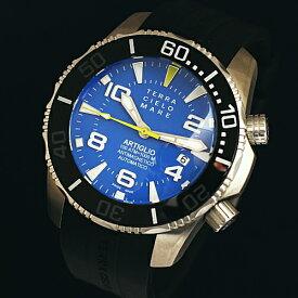テッラ チエロ マーレは安心の正規販売店で TERRA CIELO MARE ARTIGLIO アルティグリオ ブルー 1000m防水ダイバー 日本正規品 TC7035AC3PA