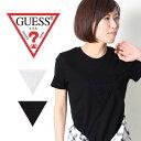 GUESS Guess ゲス 半袖 Tシャツ [Lot/YI2K9409] ウィメンズ レディース シンプル ロサンゼルス ロゴ ラフ トップス 黒 白 ストリート …
