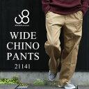 【送料無料】 Johnbull ジョンブル WIDE CHINO PANTS ワイドパンツ ワイド チノパンツ チノパン メンズ [Lot/21141] ワイドシルエット …