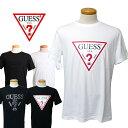 【ゆうパケット対応】 GUESS Guess ゲス 半袖 Tシャツ TRIANGLE LOGO [Lot/MI2K9415-MI2K9407] メンズ レディース シンプル トライアングル ロゴ ラフ