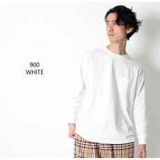 SLICKスリックDroppedShouldersT-ShirtロンTロングスリーブドロップショルダーTシャツ[Lot/5155431]メンズオーバーサイズトレンドビッグシルエットポケTポケットホワイトベージュグリーンブラック