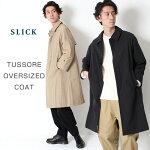 【men'sFUDGE掲載】SLICKスリックTUSSOREOVERSIZEDCOATタッサーオーバーサイズコート5165401