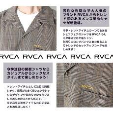 RVCAルーカメンズトップス半袖シャツCHEFSSセットアップショートスリーブシャツ[Lot/AJ041-129]ショートスリーブストリートトラッドカジュアルチェックストライプシンプルカジュアルシャツおしゃれリゾート