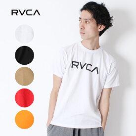 RVCA ルーカ BIG RVCA SS Tシャツ 半袖 ロゴ [Lot/AJ041-233] ブランド プリント ロゴT かっこいい おしゃれ 人気 女子 ルーズ ビッグサイズ ユニセックス メンズ ストリート ホワイト ベージュ オレンジ レッド ブラック S M L
