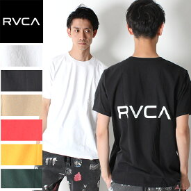 RVCA ルーカ バックプリント BACK RVCA SS Tシャツ 半袖 ロゴ [Lot/AJ041-234] ティーシャツ トレンド 夏 ロゴT ユニセックス アメカジ 西海岸 SURF プレゼント ペアルック リンクコーデ 春夏