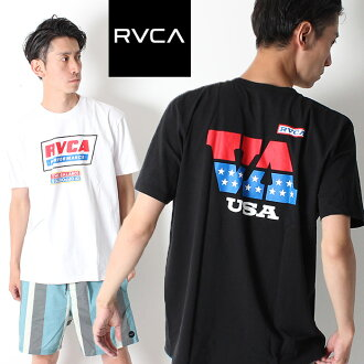 RVCA ルーカ TALLADEGA SS T-shirt short sleeves logo [Lot/AJ041-310] men United States street casual surf USA brand logo T unisex pair look link coordinates summer