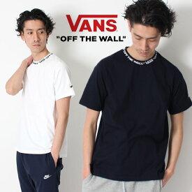 VANS ヴァンズ Tシャツ オフザウォール バンズ RIB JQD TEE T-SHIRT [Lot/CD19SS-MT08] メンズ レディース ユニセックス ホワイト ブラック ストリート Tシャツ