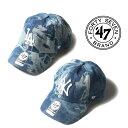 【正規取扱店】47brand フォーティーセブンブランド Hard Wash '47 CLEAN UP Blue [Lot/B-HAWSH12DWS-B-HAWSH17DWS] 帽子 キャップ ヤ…