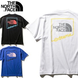 THE NORTH FACE ノースフェイス 半袖 S/S Extreme Tee Tシャツ [Lot/NT32033] メンズ タフ 頑丈 ヘビーオンス コットン ストリート カジュアル バックプリント
