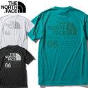 THE NORTH FACE ノースフェイス S/S 66 California Tee Tシャツ NT32085 半袖 メンズ 快適 速乾 UVケア 紫外線カット 静電ケア リサイ…