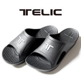 【正規取扱店】TELIC LOGO IMPACT SLIDE BLACKSILVER テリック ロゴ インパクト スライド サンダル 夏 アウトドア メンズ レディース ユニセックス プール 海 室内履き ビーチサンダル リカバリーシューズ シンプル
