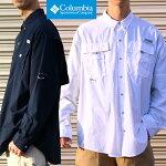 【国内正規品】ColumbiaコロンビアバハマIIロングスリーブシャツ[Lot/FM7048]メンズUVカットメッシュアウトドア登山キャンプ