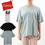 HanesウィメンズビッグTシャツ21SSHANESUNDIESヘインズ[Lot/HW1-T302]トップスレディースMフリー通年無地リラックス