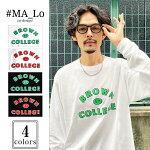 #MA_LoマーロオリジナルカレッジロゴプリントロンT[Lot/MA12830]ma_lotシャツ長袖オリジナルロゴアメカジストリートメンズレディースユニセックスカジュアル大人カジュアルインスタフェス