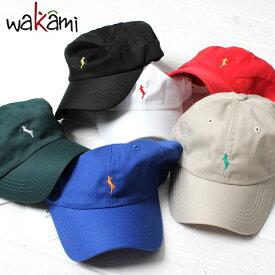 wakami ワカミ 6PANEL CAP 6パネル キャップ ローキャップ [Lot/19SS-WKM-0002] メンズ レディース 帽子 UV対策 日除け ナチュラル ワンポイント 大人 大人カジュアル オトナカジュアル ハンドメイド ストリート カジュアル ネオンカラー