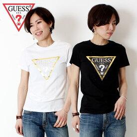 GUESS Guess ゲス 半袖 Tシャツ [Lot/YJ2K8416K] レディース シンプル トライアングル ロゴ ラフ