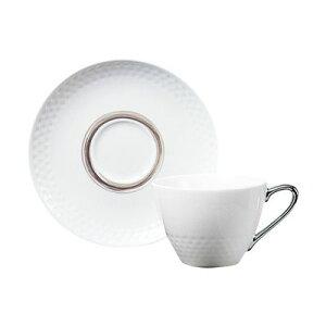 Noritake ノリタケ アミ ティー・コーヒー碗皿(銀) (プレゼント/ギフト/GIFT) のし 包装 ラッピング メッセージカード 無料
