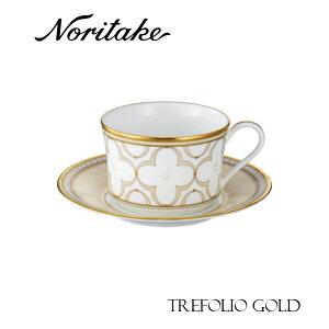 ノリタケ TREFOLIO GOLDトレフォリオ ゴールド ティー・コーヒーカップ&ソーサー 食器 ギフト