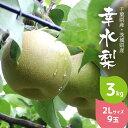 梨 幸水 3kg 2L サイズ 9玉 千葉県産 糖度12以上 なし こうすい 旬 果物 果実 フルーツ ギフト プレゼント 贈答品 贈…