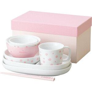 離乳食 食器セット ベビー食器 ピルクリネン つみつみ食器セット ピンク ベビー食器セット 日本製 ベビー 食器 お食い初め 離乳食 1歳児 2歳児 男の子 女の子 赤ちゃん 子供 (プレゼント/ギフ